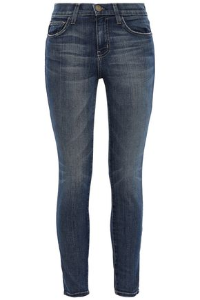 CURRENT/ELLIOTT Cropped high-rise skinny jeans
