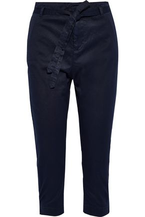 JOIE Demarius cropped stretch-cotton twill slim-leg pants
