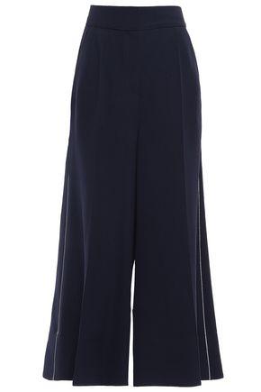 ROKSANDA Cropped twill wide-leg pants