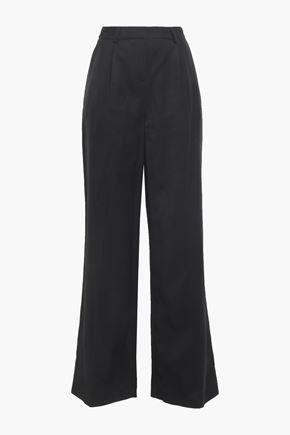 BA&SH Pleated twill wide-leg pants