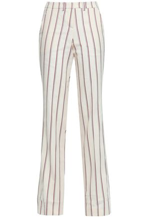 BA&SH Farah striped twill straight-leg pants