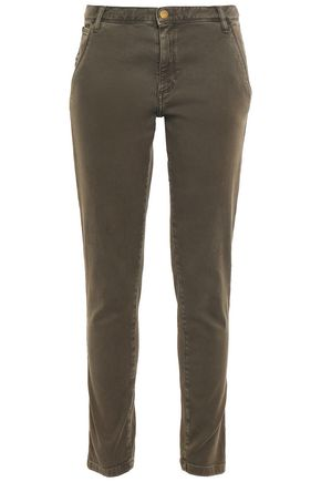 BA&SH Chiapas stretch-cotton twill slim-leg pants