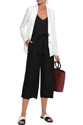 TART COLLECTIONS Winston striped linen and Tencel-blend culottes