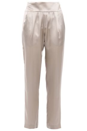 MICHELLE MASON Silk-charmeuse tapered pants