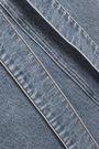 MSGM Belted denim midi skirt