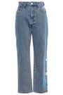MSGM Printed high-rise straight-leg jeans