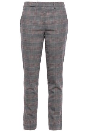 BA&SH Gody Prince of Wales checked jacquard slim-leg pants