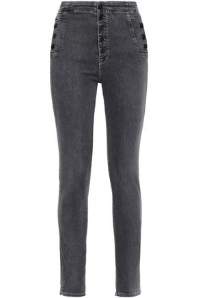 J BRAND Natasha faded high-rise skinny jeans