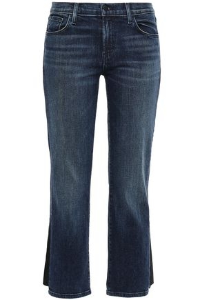 J BRAND Frayed faded mid-rise kick-flare jeans