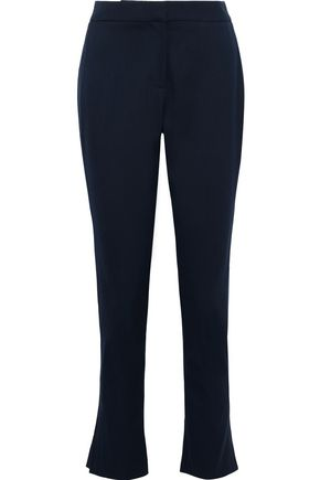 OSCAR DE LA RENTA Wool-blend slim-leg pants