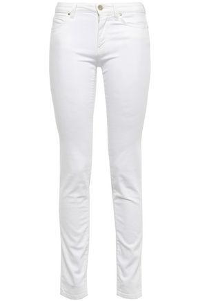 VERSACE COLLECTION Embellished low-rise skinny jeans