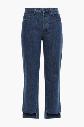 J BRAND Cropped high-rise straight-leg jeans