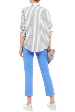J BRAND Cropped cotton-blend twill slim-leg pants