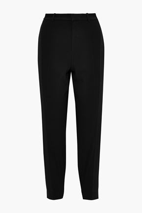 JASON WU Cropped canvas-trimmed crepe tapered pants