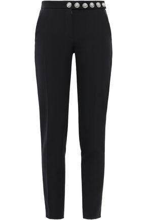 VERSUS VERSACE Button-detailed crepe slim-leg pants