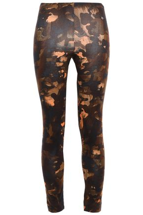VERSUS VERSACE Cropped printed stretch cotton-jersey leggings