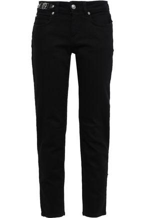 VERSUS VERSACE Embellished low-rise slim-leg jeans