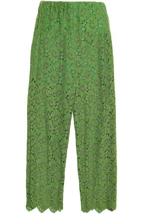 GUCCI Corded lace wide-leg pants