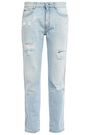 STELLA McCARTNEY Distressed mid-rise straight-leg jeans
