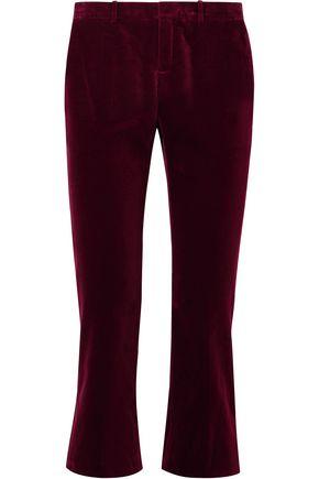 SAINT LAURENT Cotton-velvet kick-flare pants