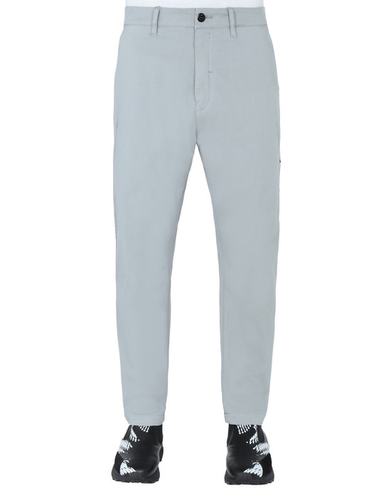 STONE ISLAND SHADOW PROJECT 30408 WIDE PANTS TROUSERS Man Pearl Gray