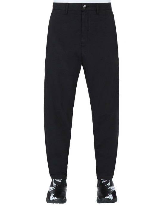 STONE ISLAND SHADOW PROJECT 30408 WIDE PANTS TROUSERS Man Black