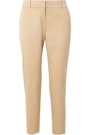 THE ROW Cropped stretch-wool twill straight-leg pants