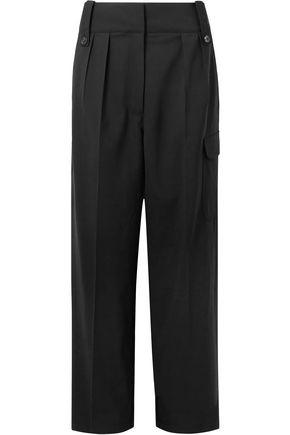 THE ROW Kiefer pleated wool-blend straight-leg pants