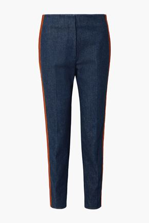 CALVIN KLEIN 205W39NYC Zip-detailed high-rise straight-leg jeans