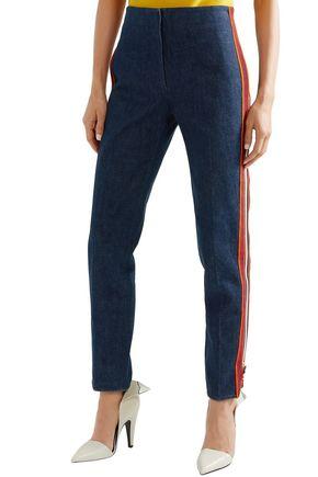 CALVIN KLEIN 205W39NYC Zip-detailed high-rise straight-leg jeans