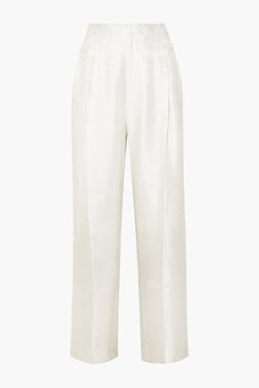 GIVENCHY Satin-jacquard wide-leg pants