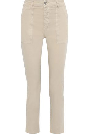 IRIS & INK Cotton-blend twill straight-leg pants