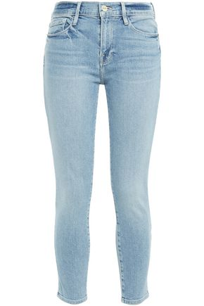 FRAME Cropped low-rise skinny jeans