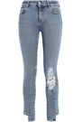 IRO Planet cropped distressed mid-rise skinny jeans