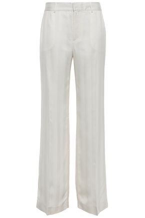 EQUIPMENT Satin-jacquard wide-leg pants