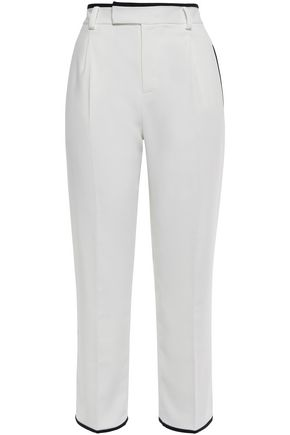 EQUIPMENT Cropped crepe straight-leg pants