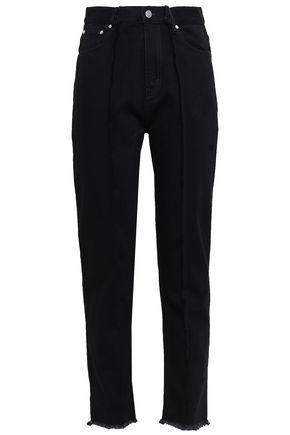 ROKH Frayed high-rise slim-leg pants