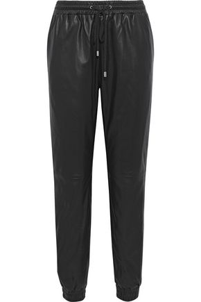 WALTER BAKER Leather track pants