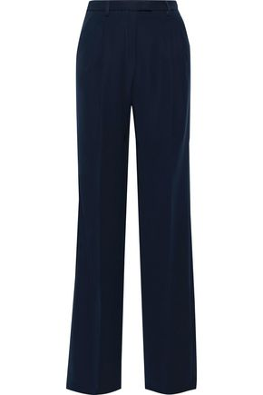 IRIS & INK Sylvi washed-crepe wide-leg pants