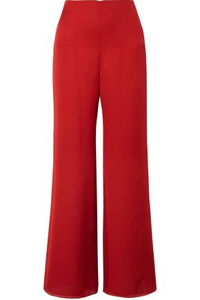 THE ROW Kiola washed silk-charmeuse wide-leg pants