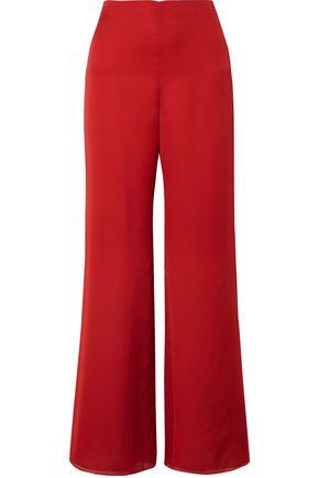 THE ROW Kiola washed silk-charmeuse wide-leg pants
