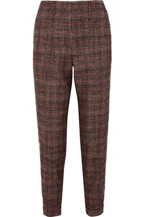 AKRIS Checked tweed tapered pants
