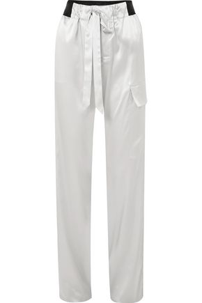 TOM FORD Silk-blend charmeuse track pants