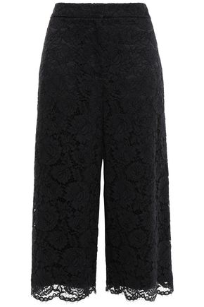 KATE SPADE New York Cotton-blend corded lace culottes