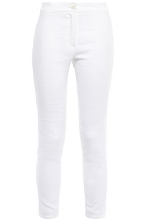 ANN DEMEULEMEESTER Cotton-blend twill skinny pants