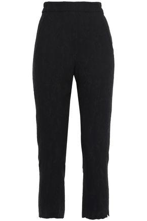 ANN DEMEULEMEESTER Cropped jacquard slim-leg pants