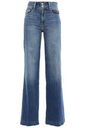 FRAME Faded high-rise flared jeans