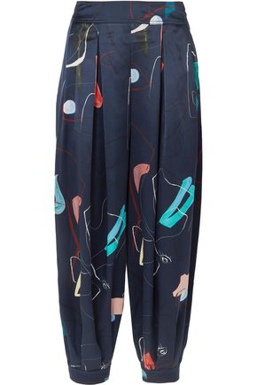 ROKSANDA Pipa printed silk tapered pants
