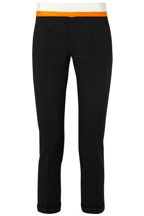 HAIDER ACKERMANN Grosgrain and satin-trimmed wool-blend slim-leg pants