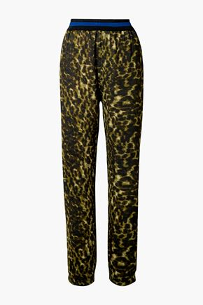 STELLA McCARTNEY Leopard-print jersey track pants